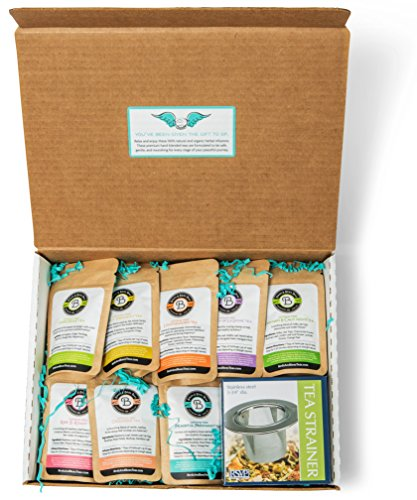 Birds & Bees Teas - Pregnancy Tea Sampler Set, Perfect Pregnancy Gift for Women and Pregnant Mom Gift for First Time Moms or Pregnancy Announcement Gift - 9 Teas with 5 Servings Each.