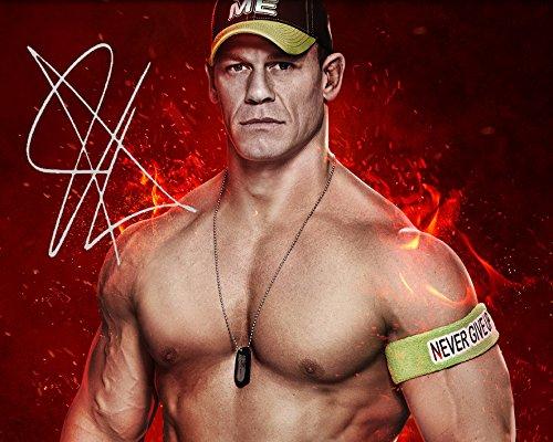 John Cena WWE | Foto de Laboratorio, reimpresión de Firma | Tamaño de 10x8 para Marcos de 10x8 Pulgadas | Calidad de Laboratorio | Exhibición de la Foto | Regalo Presente Coleccionable