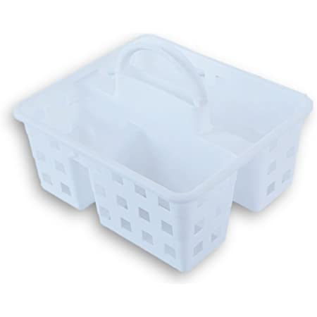 Greenbrier Small Utility Shower Caddy Tote - White