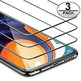ivencase [3-Pack] Protector Pantalla Samsung Galaxy A60, Cristal Templado Samsung Galaxy A60, Cobertura Completa [9H Dureza] [Sin Burbujas ] Vidrio Templado