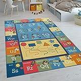 Alfombras Infantiles Juego Pelo Corto Habitación Coloridas En Diferentes Diseños, tamaño:140x200 cm, Color:Multicolor