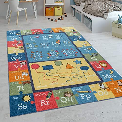 Paco Home Tapis Enfant, Tapis Poils Ras Chambre Enfant Différents Designs Tapis Jeu Coloré, Dimension:200x290 cm, Couleur:Multicolore