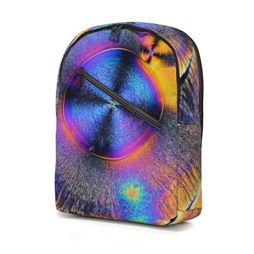 Mochila de ilustración de cristal de color abstracto, resistente al agua, bolsas de escuela, bolsas ligeras, bolsa de viaje, gran capacidad para niños, niñas, adolescentes y adultos