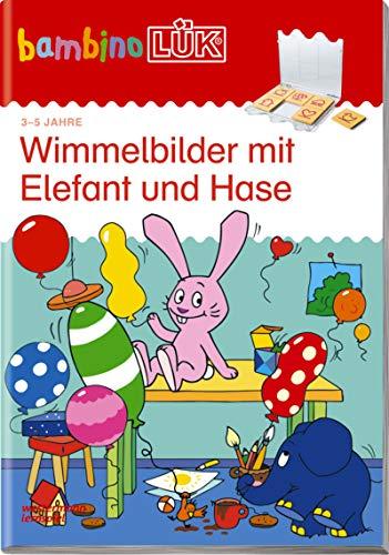 bambinoLÜK-Übungshefte: bambinoLÜK: 3/4/5 Jahre: Wimmelbilder mit Elefant und Hase: Kindergarten / 3/4/5 Jahre: Wimmelbilder mit Elefant und Hase (bambinoLÜK-Übungshefte: Kindergarten)