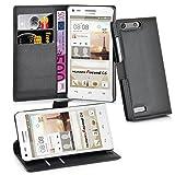 Cadorabo Funda Libro para Huawei Ascend G6 en Negro Fantasma - Cubierta Proteccíon con Cierre Magnético, Tarjetero y Función de Suporte - Etui Case Cover Carcasa