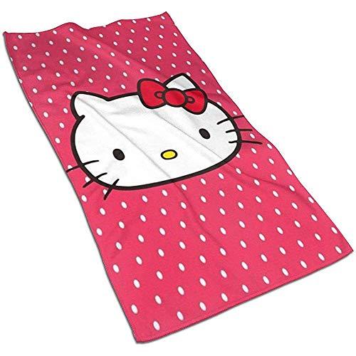 Hello Kitty Soft Super Absorbent Toalla de manos de secado rápido Toalla de baño Toalla de playa- 27.5 X 17.5 pulgadas