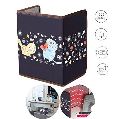 Roboraty Opvouwbare infrarood-verwarmingsplaat met plafondvoetwarmer, paneelverwarming elektrische verwarming 3-temperatuurregeling 3 uur automatische uitschakeling kantelbeveiliging energie-efficiënt, 100x51 cm