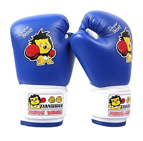 Child Boxen - Kickboxhandschuh volle Finger-Handschuhe -MMA-2 ---- Blau