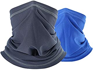 QINGLONGLIN Cooling Face Mask Bandana- Sun Dust Protection Neck Gaiter Cover for Outdoor Cycling Hiking Fishing Men & Women