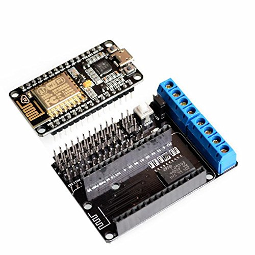 AuBreey NodeMCU Development Kit NodeMCU + Motor Shield esp wifi esp8266 esp-12e esp 12e kit diy rc toy remote control Lua IoT smart car