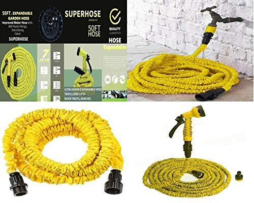 Shopylistic 50FT Expandable Garden Hose Flexible Expanding Hose With Multi...