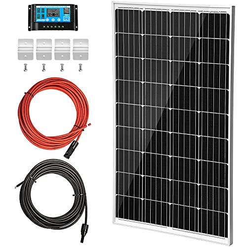 VEVOR Solarpanel Kit 18V 8,33A Solarmodul 150W Max. 1000V DC Solaranlage mit 36 Monozellen Solar Komplett Set 148x67x3,5cm ideal für Wohnwagen Wohnmobil Golfwagen Elektroauto Boot Jacht Zelt etc.