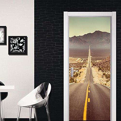 Deur behang muurschilderingen deur behang sticker zelfklevende Vinyl verwijderbare kunst deur stickers voor huisdecoratie