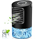 Portable Air Conditioner Fan, 2021NEW Personal Air Conditioner with 7 Colors Light, Quiet Mini Air Conditioner Portable, 3 Speeds Desk Air Conditioner, Personal Mini AC Unit, Misting Personal AC