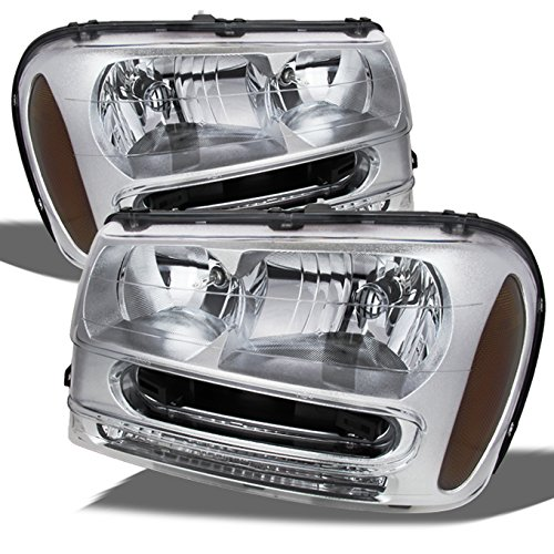 For Chevy Trailblazer Chrome OE Replacement Headlights Driver/Passenger Head Lamps Pair