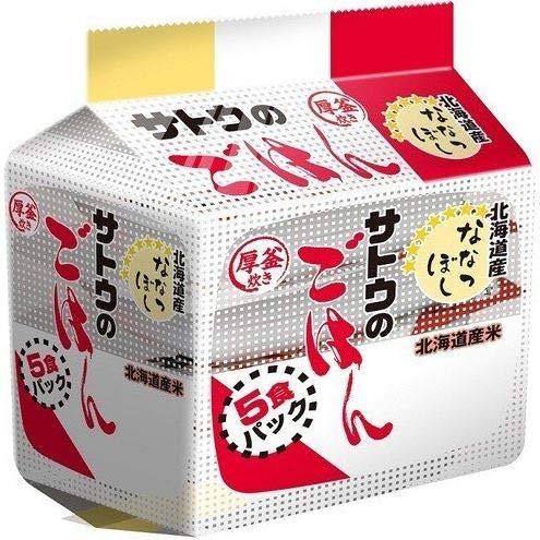 サトウのごはん 北海道産ななつぼし 5食パック×2個入り