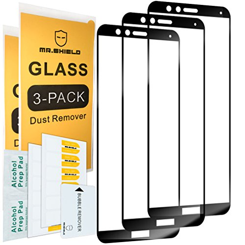 [3-Pack]-Mr.Shield for Huawei Honor 7X [Full Cover] Screen Protector with Lifetime Replacement
