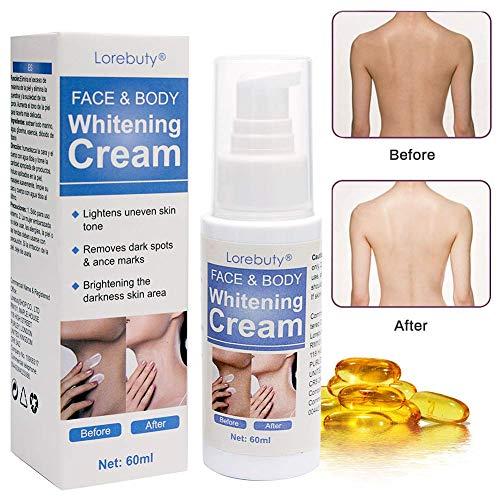 Aufhellung Creme,Whitening Cream,Körpermilch,Feuchtigkeitscreme,Haut aufhellen Creme, Body Cream für dunkle Haut, Hals, empfindliche Bereiche, Ellenbogen, innere Oberschenkel Creme