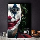 BGFDV 2019 Joker Actor de película Joaquín Lienzo Pintura al óleo póster impresión Pared Arte Imagen decoración Sala de Estar