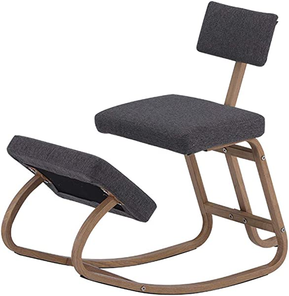 Kneeling Chairs Home Office Ergonomic Balance Kneel Stool Rocking With Back Support For Perfect Posture Kids Children With Backrest