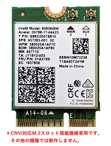 Intel Wireless-AC 9560 - Netzwerkadapter - M.2 2230, 9560.NGWG.NV