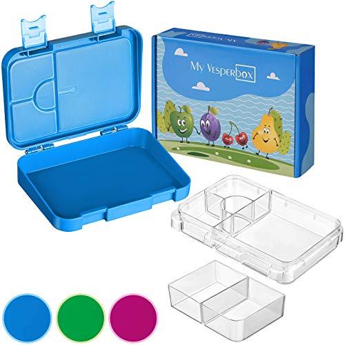 My Vesperbox – Kinder Bento Box - Lunchbox mit 4+2 Fächern -...