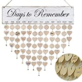 ATOBART Days to Remember Board - DIY Wood Family Birthday Reminder Calendar Hanging Board for Important Dates Tracker Home Decorative Plaque Wall Hanging Handmade Creative Birthday Gifts