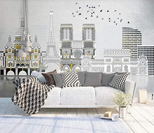 Papel Pintado Pared 3D Construyendo Asuka De Estilo Europeo Moderno Dormitorio Salon Decoracion murales