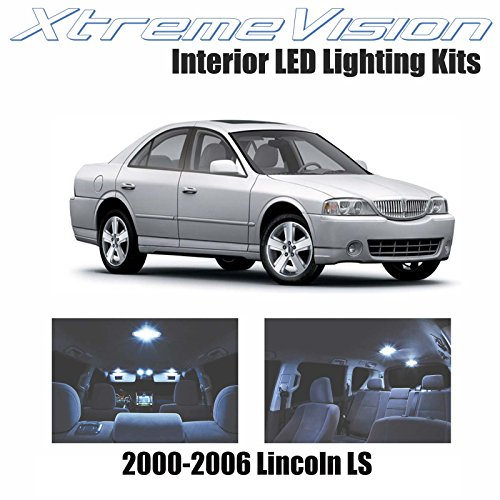 XtremeVision Interior LED for Lincoln LS 2000-2006 (10 Pieces) Cool White Interior LED Kit + Installation Tool