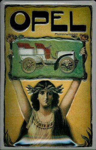 Blechschild Opel Motorwagen Oldtimer Auto Schild Nostalgieschild retro KFZ Reklame