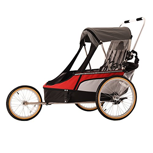 Sale!! WIKE Premium Double 3 in 1 Bicycle Trailer + Strolling + Jogging (Turquoise)