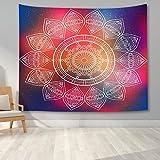 KHKJ Tapiz de Mandala para Colgar en la Pared, decoración Boho, tapices de Tela para Pared, Tapiz Bohemio psicodélico, Alfombra de Pared de Mandala A8 200x180cm