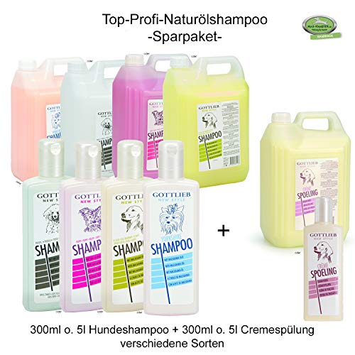 MAX HAMSTER SPARPACK: 2X 300ml Gottlieb Hundeshampoo und Cremespülung | Naturölshampoo | Spitzen-Profi-Qualität (für Langhaarhunde | Beeztees (Yorkshire) + Cremespülung, 300ml)