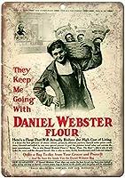 Daniel Webster Flour Food ティンサイン ポスター ン サイン プレート ブリキ看板 ホーム バーために