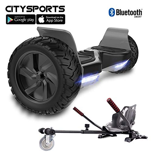 CITYSPORTS Balance Board Tout Terrain 8.5', Self-Balancing Scooter Hummer SUV, Bluetooth et APP, 700W (Hover-2)