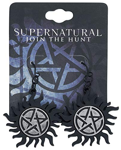 Supernatural Ohrringe Anti Possession Symbol 3,3x3,9cm Zinklegierung