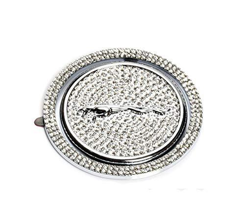 Crystal Rhinestone Car Gear Shift Knob Cover Decoration Trim Sticker for Jaguar XF XE XJ F-Pace (Silver)