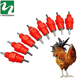 feeding cover - 10 Pcs Water Nipple Chicken Feeders and Drinkers poultry feeding water supplier 360 Angle Poultry Supply C...