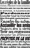 Sticker Les règles de la famille. Taille 60x96 cm - Marque Stickers muraux Beestick (Noir) - Sticker citation - texte