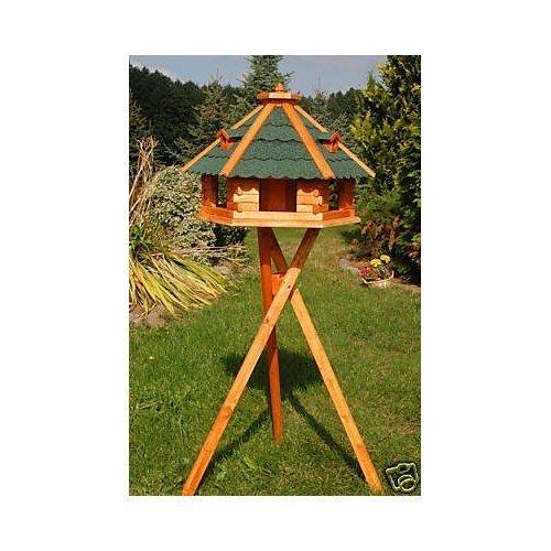 Deko-Shop-Hannusch Vogelhaus von Größe L, XL und XXL Futterhaus Futterhäuschen Vogelvilla V18, Vogelfutterhaus aus Holz