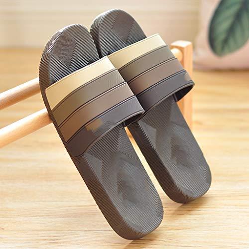 zxb-shop Chanclas Sandalias y el Verano Interiores Baño Bañera Antideslizante Suave Pareja Inferior Zapatos Desodorante Cuidado Zapatillas de Verano Principal Hombres Zapatillas casa