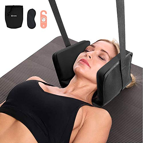 Neck Stretcher for Neck Pain Relief, Cervical Neck Traction Device, TROPRO Head Hammock with Carry Pouch Door Hanger for Shoulder Pain Physical Therapy