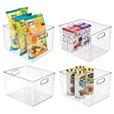 mDesign Plastic Storage Organizer Container Bins Holders with...