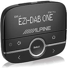 Alpine EZI-DAB-ONE - Auto Media-Receiver (Schwarz, LCD, USB Typ-A, DAB,DAB+,FM, 87,6-107,9 MHz, 72 mm)