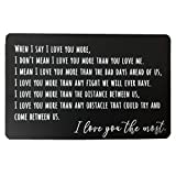Luvimie Engraved Wallet Insert Card, Personalized Message Card, Metal Wallet Card Anniversary Gift for Men, Valentines, Wedding Day Gift, Groom's Gift for Him, Father's Day