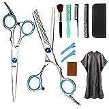 FEALING Haarschere, Profi Haarschere Sets, Edelstahl Friseurscheren Friseurscheren aus Edelstahl zum Ausdünnen und Strukturieren, Modellieren Professionelle Friseur-Sets