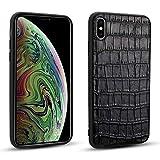 Happy-L Caso iPhone XS Max, Custodia Protettiva per Telefono Cellulare in Pelle (Color : Black)