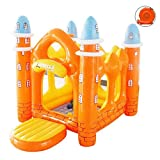 Aufblasbares Schloss Hüpfburg Innen-Unterhaltung Spielhaus Orange Trampolin Kleiner Kreatives Spiel Zaun (Color : Orange, Size : 180 * 130 * 140cm)