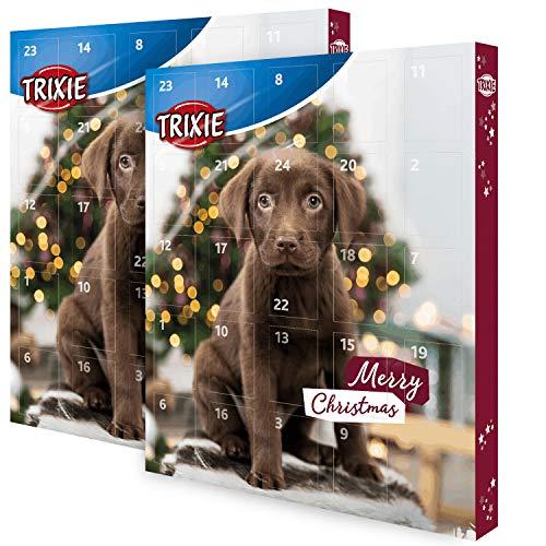 TRIXIE Adventskalender für Hunde mit diversen Leckereien im Doppelpack (2 Stück)