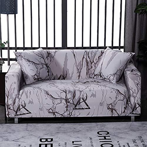WXQY Green Leaf Sofabezug Wohnzimmer Stretch Sofabezug, L-förmige Ecksofabezug, All-Inclusive Wohnzimmer Sofabezug A5 2-Sitzer